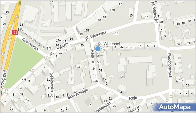 Słubice, Reja Mikołaja, 6, mapa Słubice