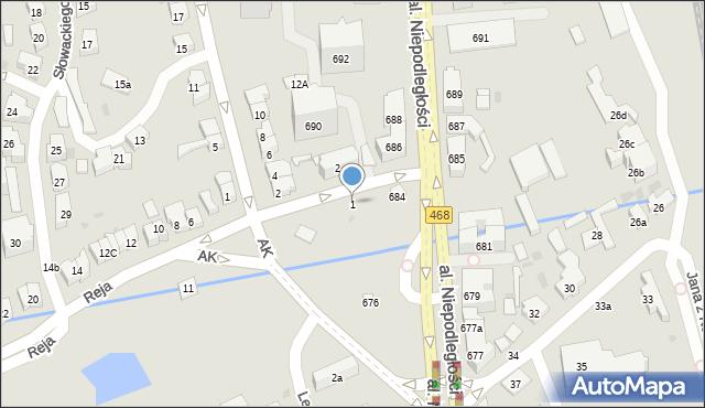 Sopot, Reja Mikołaja, 1, mapa Sopotu