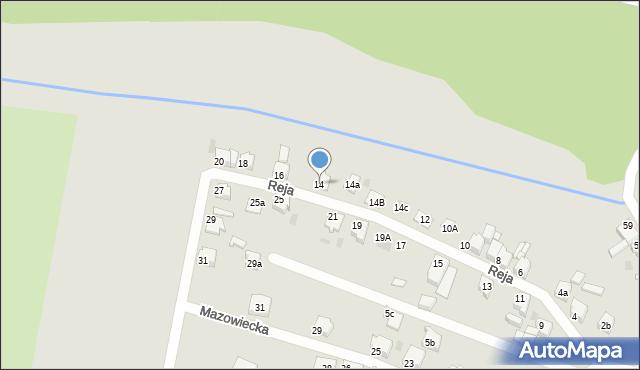 Tarnowskie Góry, Reja Mikołaja, 14, mapa Tarnowskie Góry