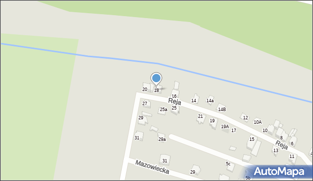 Tarnowskie Góry, Reja Mikołaja, 18, mapa Tarnowskie Góry