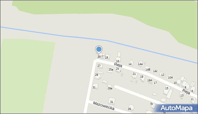 Tarnowskie Góry, Reja Mikołaja, 20, mapa Tarnowskie Góry