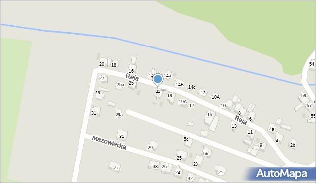 Tarnowskie Góry, Reja Mikołaja, 21, mapa Tarnowskie Góry