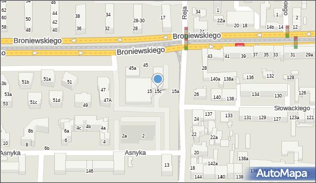 Toruń, Reja Mikołaja, 15c, mapa Torunia