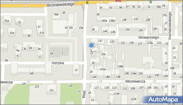Toruń, Reja Mikołaja, 22, mapa Torunia