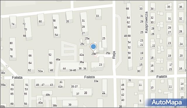Toruń, Reja Mikołaja, 23b, mapa Torunia