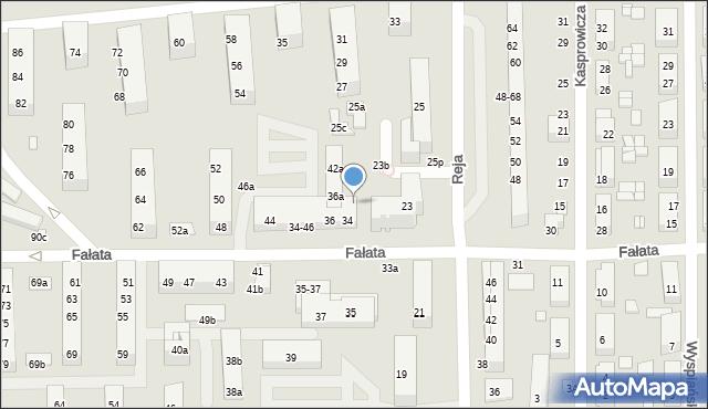 Toruń, Reja Mikołaja, 23c, mapa Torunia