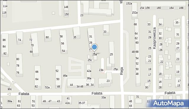Toruń, Reja Mikołaja, 25a, mapa Torunia