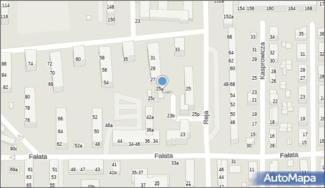 Toruń, Reja Mikołaja, 25b, mapa Torunia