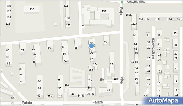 Toruń, Reja Mikołaja, 29, mapa Torunia