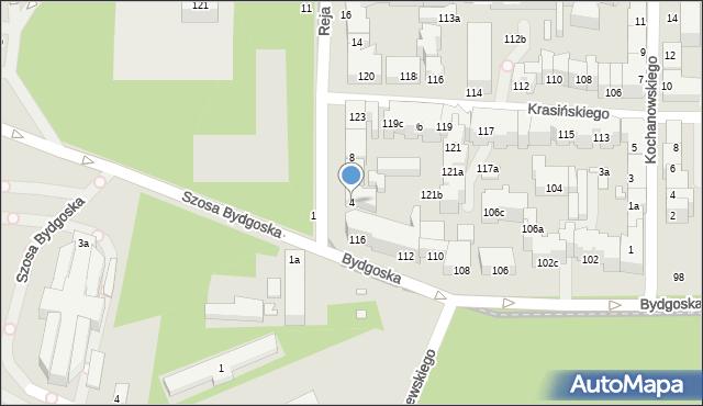 Toruń, Reja Mikołaja, 4, mapa Torunia