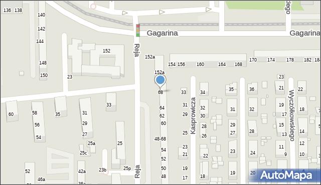 Toruń, Reja Mikołaja, 68, mapa Torunia