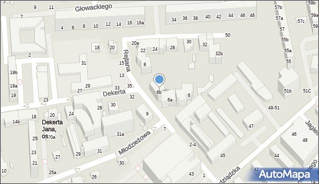 Toruń, Rejtana Tadeusza, 6b, mapa Torunia
