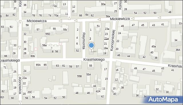 Toruń, Reymonta Władysława, 9, mapa Torunia