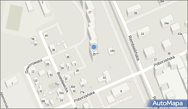 Warszawa, Rembielińska, 15, mapa Warszawy