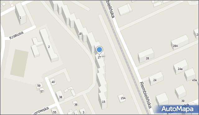 Warszawa, Rembielińska, 17, mapa Warszawy