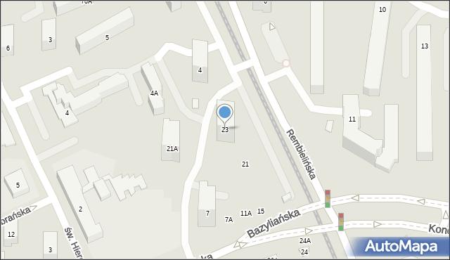 Warszawa, Rembielińska, 23, mapa Warszawy