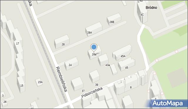 Warszawa, Rembielińska, 24a, mapa Warszawy