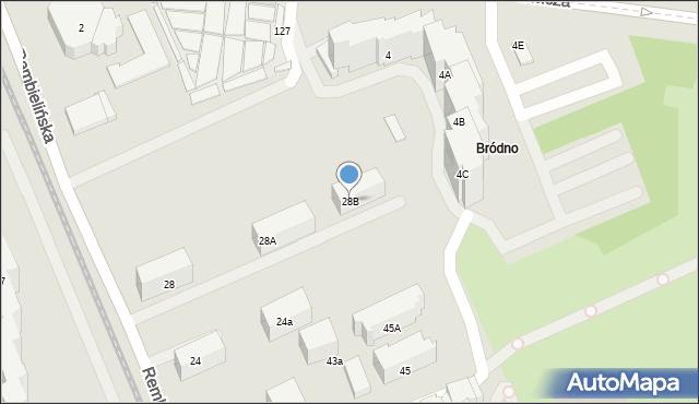 Warszawa, Rembielińska, 28B, mapa Warszawy