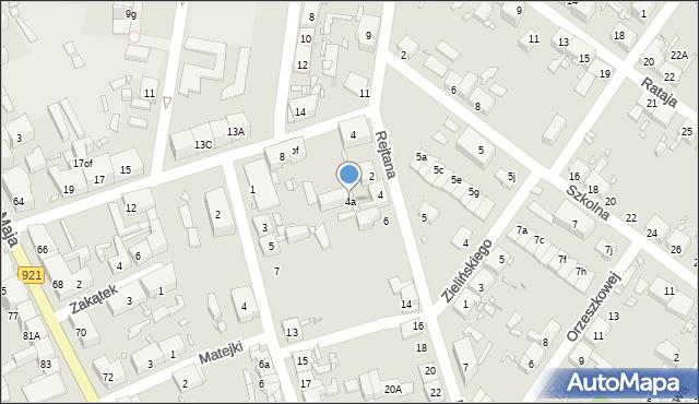 Zabrze, Rejtana Tadeusza, 4a, mapa Zabrza