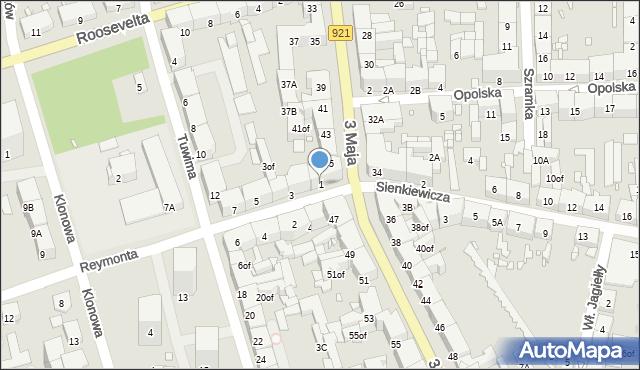 Zabrze, Reymonta Władysława, 1, mapa Zabrza