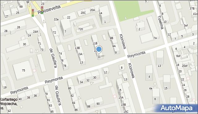 Zabrze, Reymonta Władysława, 11, mapa Zabrza