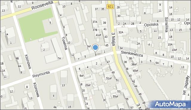Zabrze, Reymonta Władysława, 3, mapa Zabrza