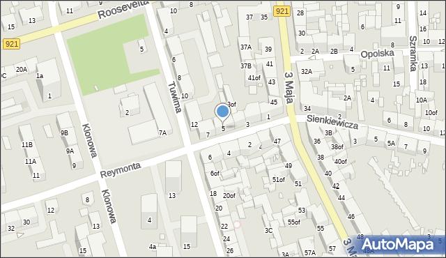 Zabrze, Reymonta Władysława, 5, mapa Zabrza