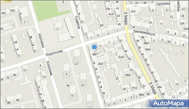 Zabrze, Reymonta Władysława, 6of, mapa Zabrza