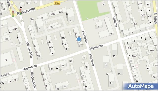 Zabrze, Reymonta Władysława, 9, mapa Zabrza