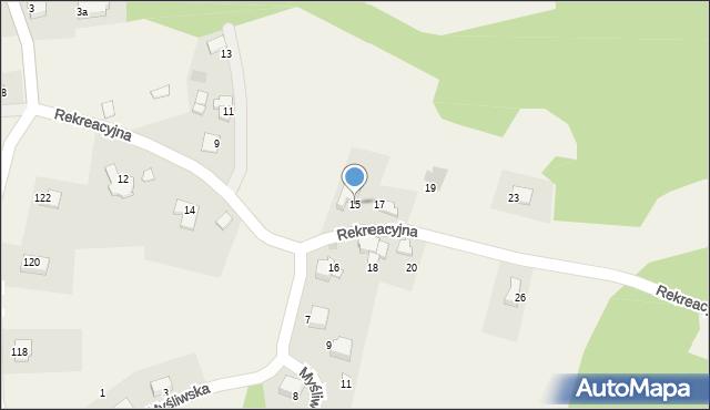 Zagórnik, Rekreacyjna, 15, mapa Zagórnik