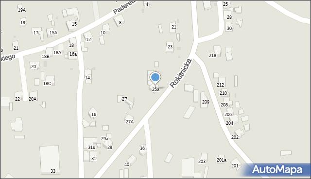 Bytom, Rokitnicka, 25a, mapa Bytomia