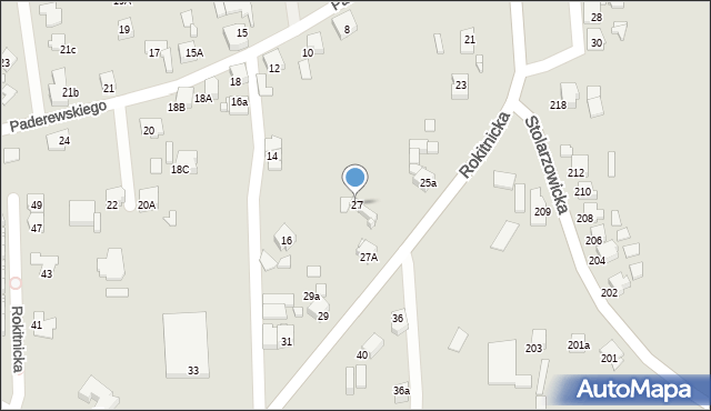 Bytom, Rokitnicka, 27, mapa Bytomia
