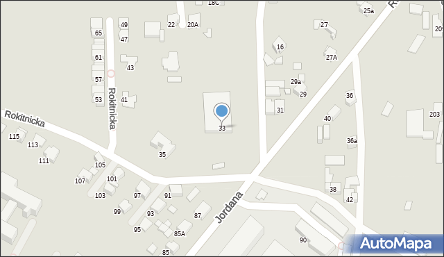 Bytom, Rokitnicka, 33, mapa Bytomia