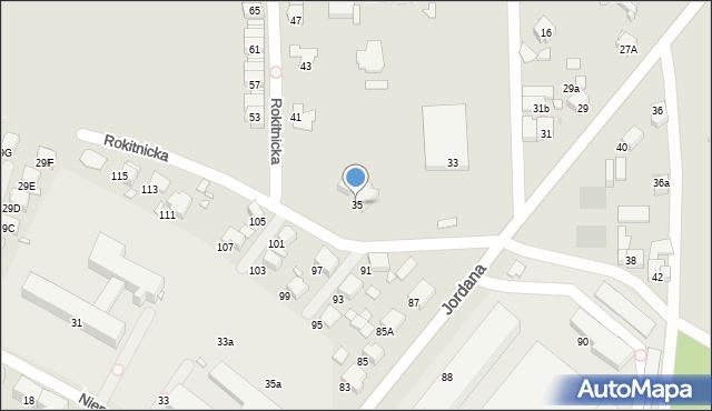 Bytom, Rokitnicka, 35, mapa Bytomia