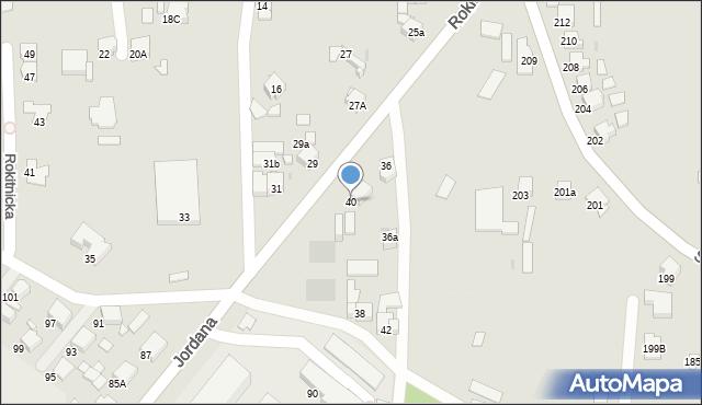 Bytom, Rokitnicka, 40, mapa Bytomia