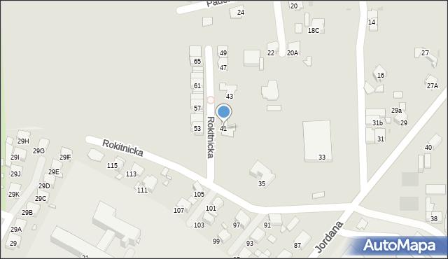 Bytom, Rokitnicka, 41, mapa Bytomia