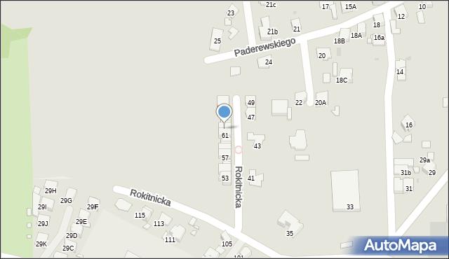 Bytom, Rokitnicka, 63, mapa Bytomia