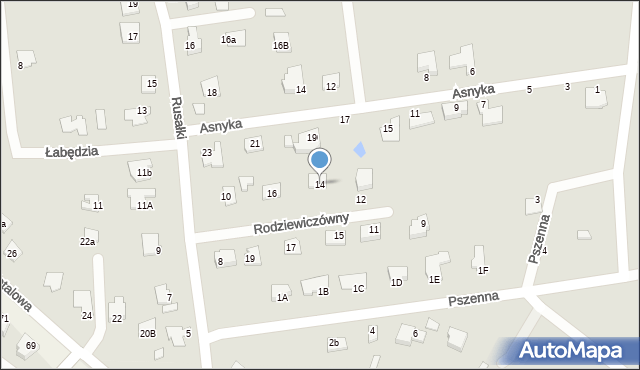 Chełm, Rodziewiczówny Marii, 14, mapa Chełma