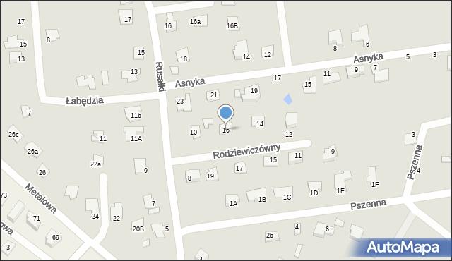 Chełm, Rodziewiczówny Marii, 16, mapa Chełma