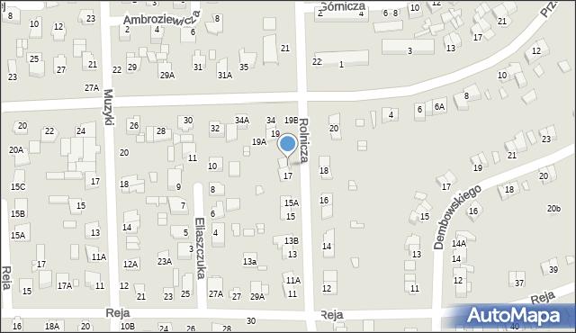 Chełm, Rolnicza, 17B, mapa Chełma