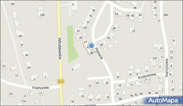 Chełm, Różana, 39, mapa Chełma
