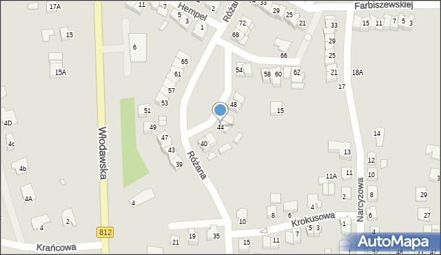 Chełm, Różana, 44, mapa Chełma