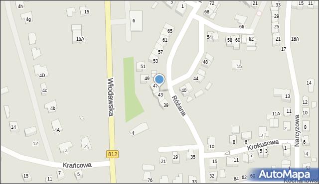 Chełm, Różana, 45, mapa Chełma
