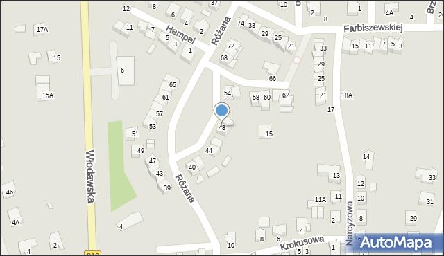 Chełm, Różana, 48, mapa Chełma