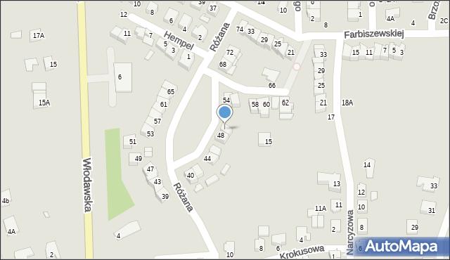 Chełm, Różana, 50, mapa Chełma