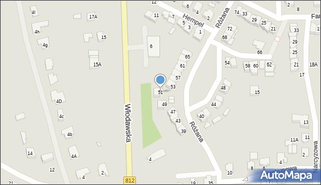 Chełm, Różana, 51, mapa Chełma