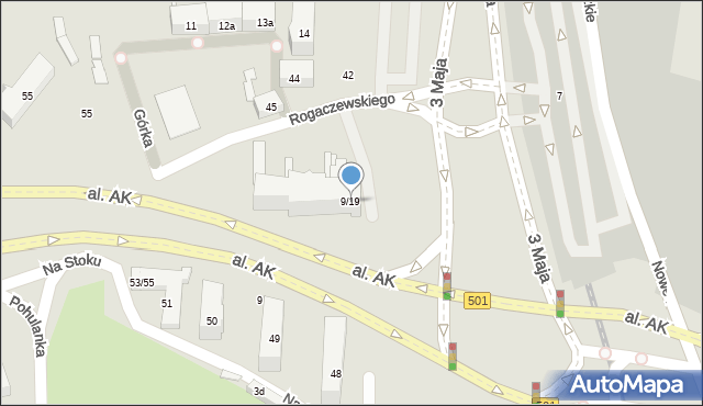 Gdańsk, Rogaczewskiego Franciszka, ks., 9/19, mapa Gdańska