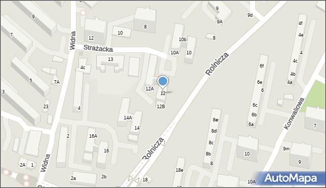 Gdynia, Rolnicza, 12, mapa Gdyni