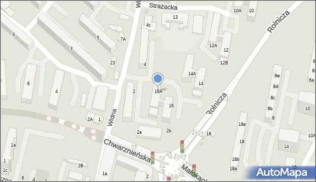 Gdynia, Rolnicza, 16A, mapa Gdyni