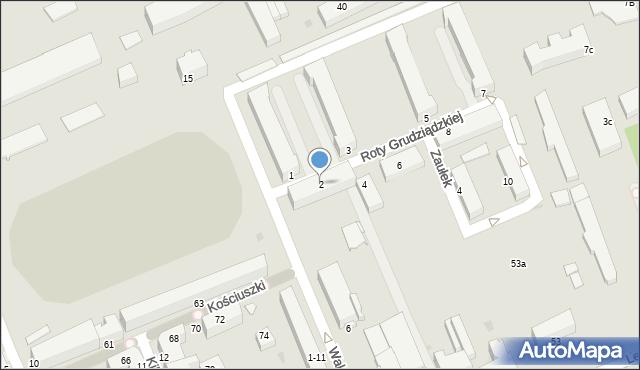 Grudziądz, Roty Grudziądzkiej, 2, mapa Grudziądza